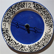 Delph Clock - 9 inches diameter, $45